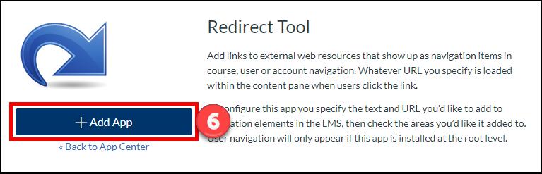"""Click the """"+Add App"""" button."""