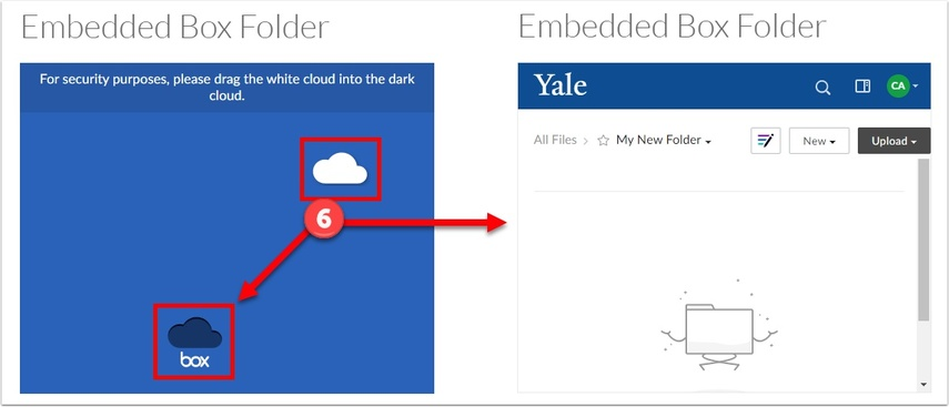 Drag the white cloud into the dark cloud, and the folder will appear