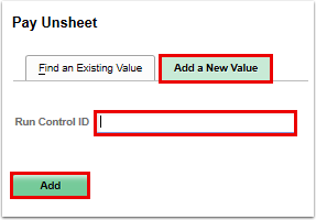 Add a New Value run control ID