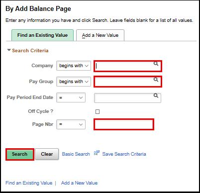 By Add Balance Page search page
