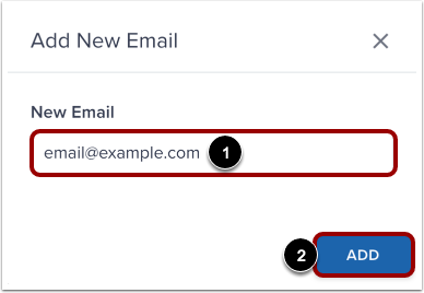 Enter New Email Address