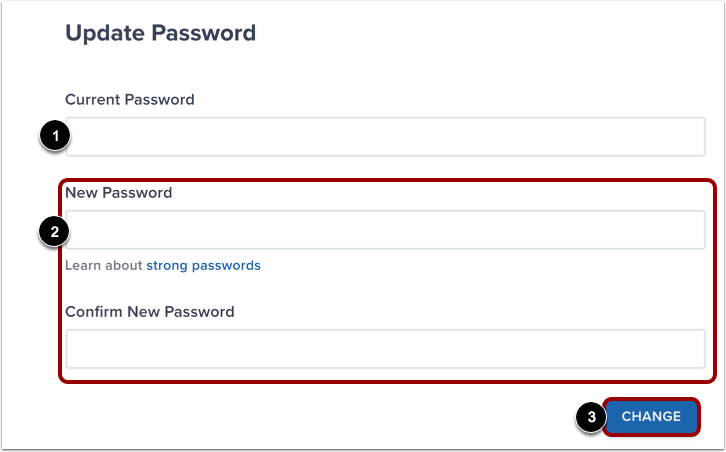 Enter Password Details