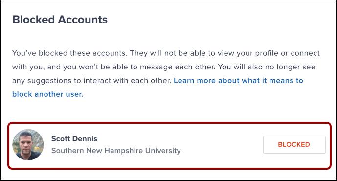 View Blocked Accounts