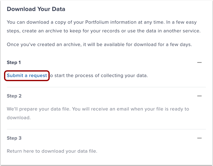 Download Your Data