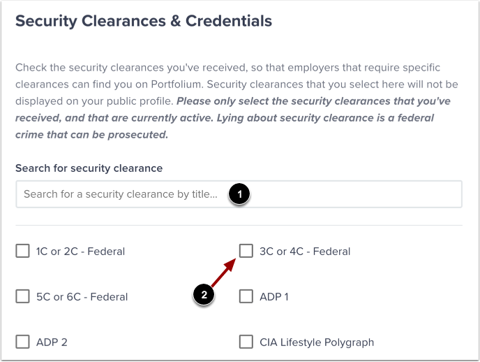 View Security Clearances