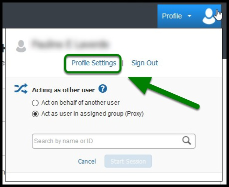 Once you log into Concur, go to Profile and select Profile Settings.