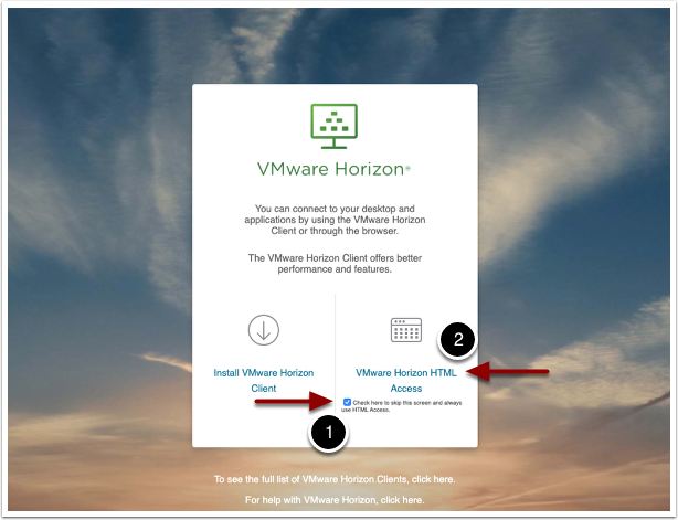 VMware Horizon HTML Access.
