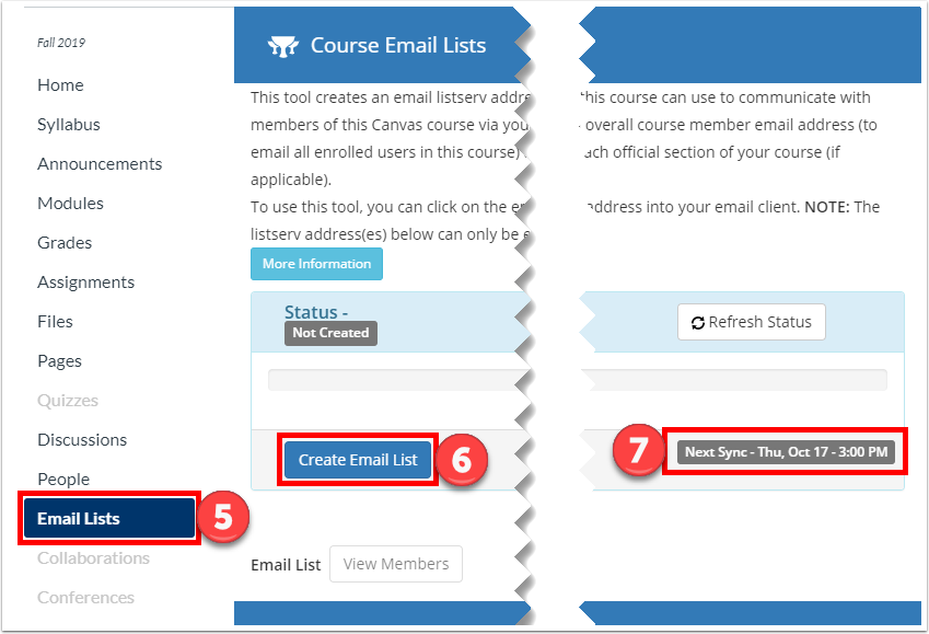 Create the email list