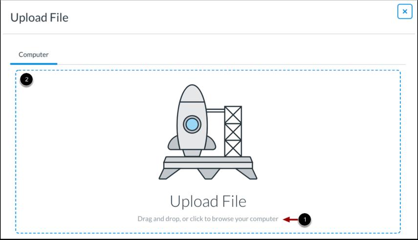 Importer un document stocké sur un ordinateur