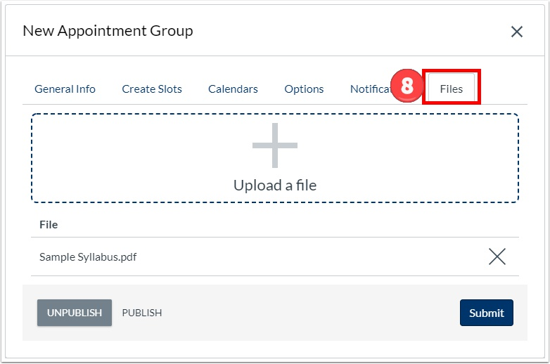 Upload relevant documents