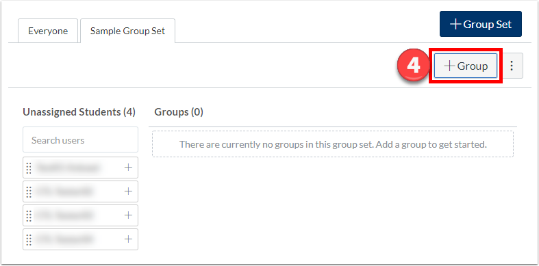 "Click ""+Group""."
