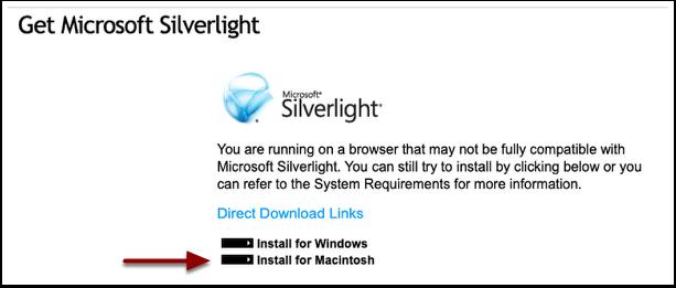 Install for Macintosh