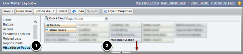 How do I add the Box viewing area to the Matter page?