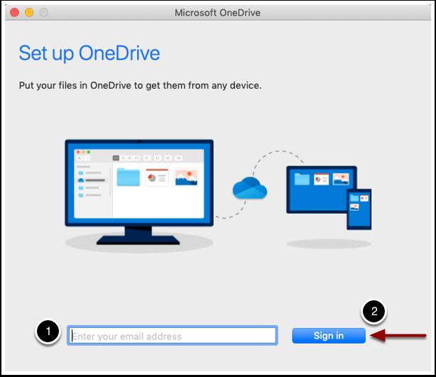setup OneDrive