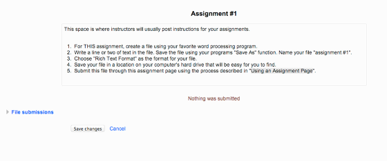 assignment page