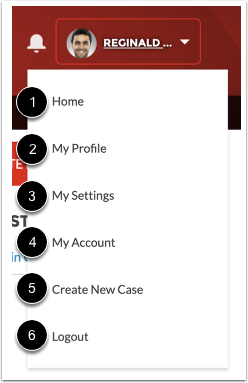 View User Menu