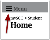 mySCC main menu detail