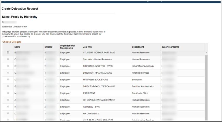 Select Proxy page