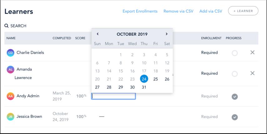 Choose Expiration Date