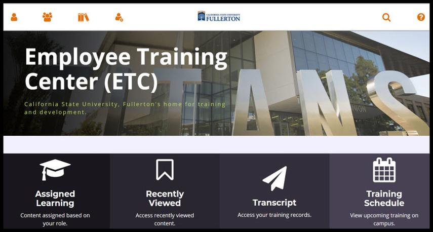 Employee Training Center Dashboard