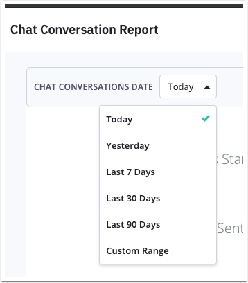Chat Conversation report filter