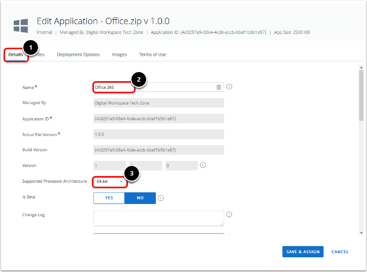 Configure the Office 365 Details Tab