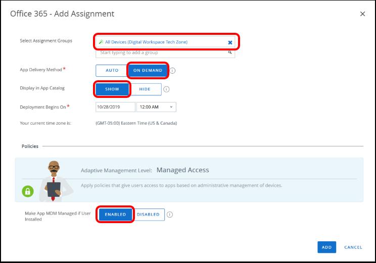 Assign & Publish Windows Applications
