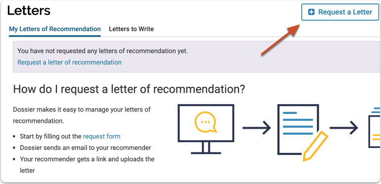 "Click ""Request Recommendation"""