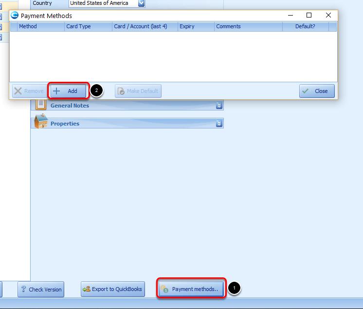 Payment Methods Screen