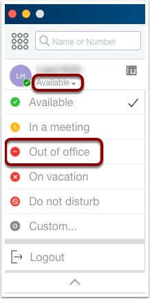 Change Call Handling Mode