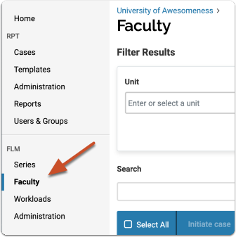 Faculty Lifecycle Management