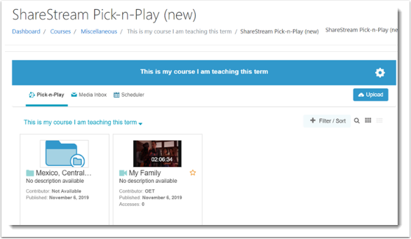 sharestream pick n play