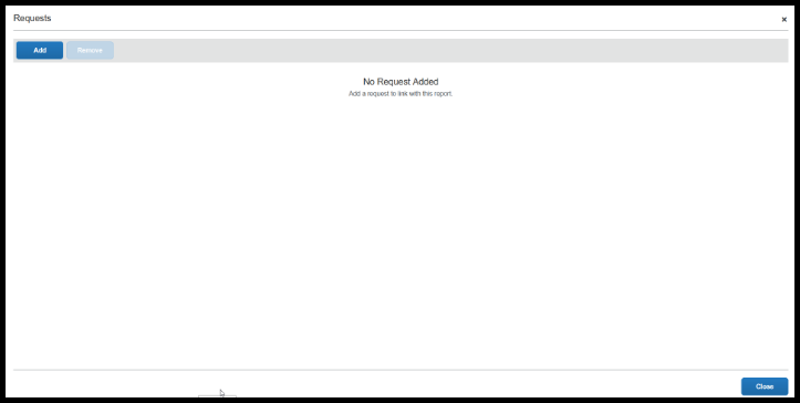 Request window will display and you can see if a travel request is listed.