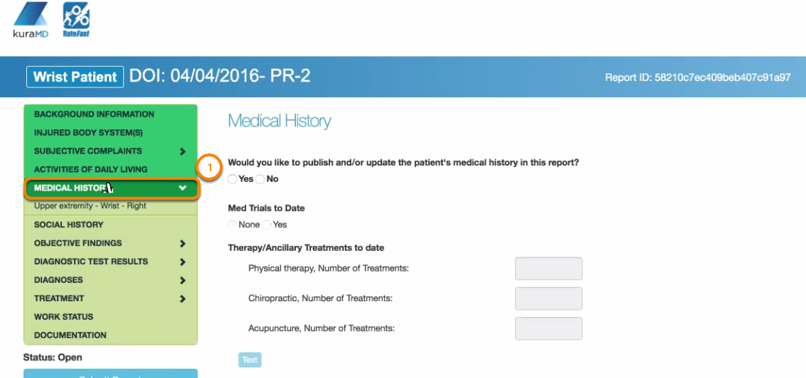Update Medical History