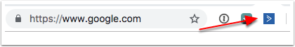 ActiveCampaign extension in the URL bar