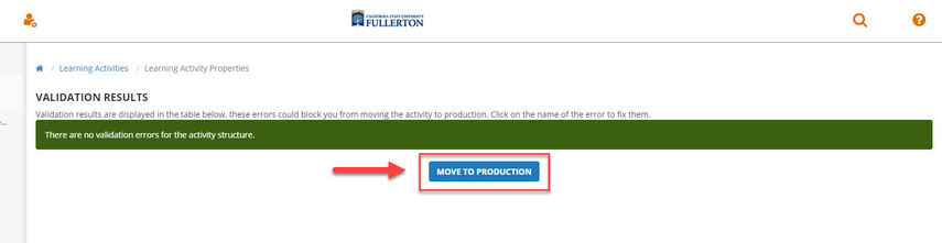 move to production
