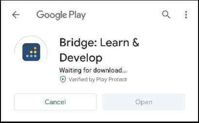 Android downloading app progress