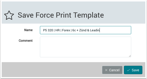 Save Force Print Template - 1.7.6