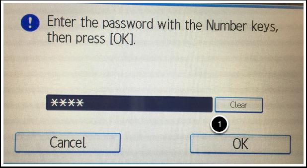 Password popup detail