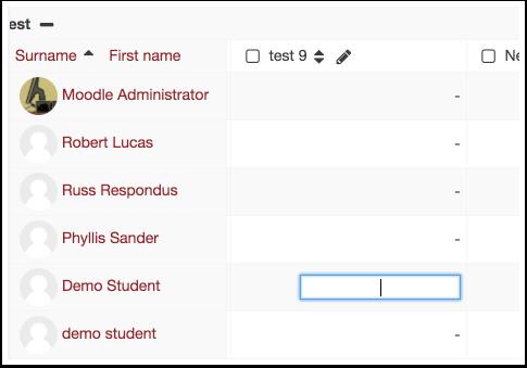 View tab column detail