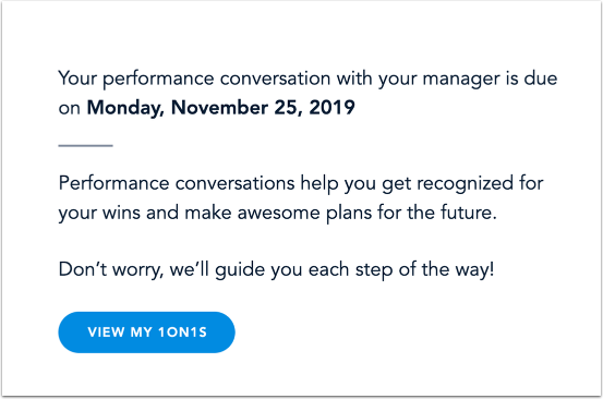 View Performance Conversation Agenda Invitation