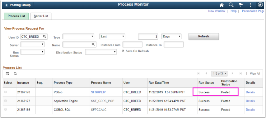 Image of the Process Monitor page