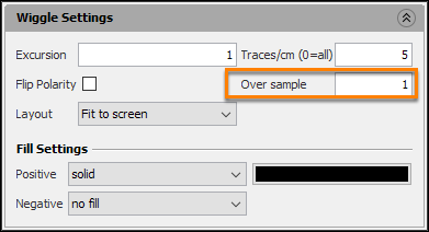 Set the over sample value