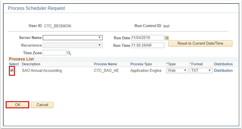 Process Scheduler Requrest page