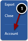 Opening the Account settings