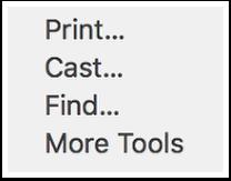 browser menu detail
