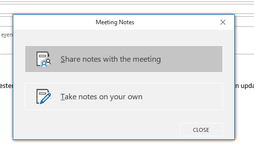 Share notes with the meeting