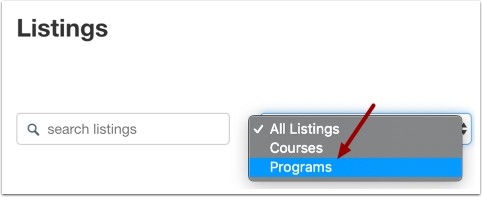 Open Programs