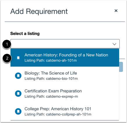 Search Canvas Courses or Programs