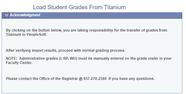 Load Student Grades message